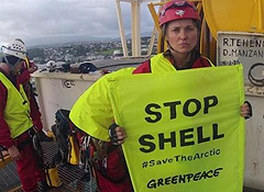 Greenpeace seizes Shell test drilling ship